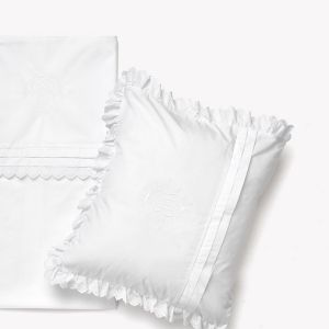 POMME CARAMEL BABY - BIRTH NEIGE Cotbed sheet & pillowcase PC-CN-DT
