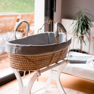 POMME CARAMEL BABY - BIRTH CASUAL CHIC Moses basket PC-CMG-COUF