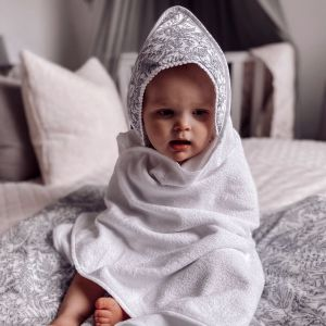 POMME CARAMEL BABY - BIRTH GUSTAVE copy of HOODED TOWEL SET PC-CG-SDB