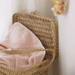 POMME CARAMEL BABY - BIRTH PECHE MELBA HOODED TOWEL SET PC-CPM2-SDB