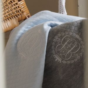 POMME CARAMEL BABY - BIRTH CASUAL CHIC BABY BLANKET S & L PC-CMG-CV
