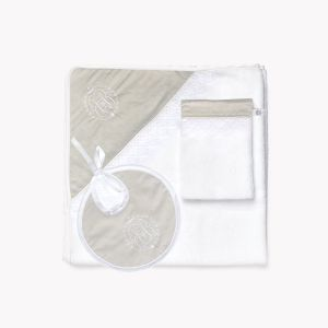 POMME CARAMEL BABY - BIRTH CARAMEL HOODED TOWEL SET PC-CPC-SDB