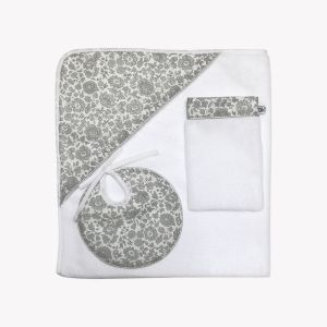 POMME CARAMEL BABY - BIRTH LIBERTY COLLECTIONS HOODED TOWEL SET PC-CLF-SDB