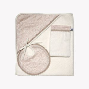 POMME CARAMEL BABY - BIRTH LIBERTY COLLECTIONS copy of HOODED TOWEL SET PC-CLN-SDB