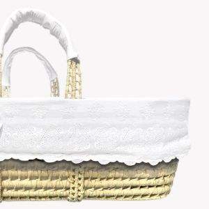 POMME CARAMEL BABY - BIRTH NEIGE Moses basket percal PC-CNP-COUF