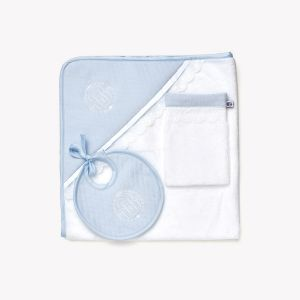 POMME CARAMEL BABY - BIRTH CIEL HOODED TOWEL SET PC-CMB-SDB